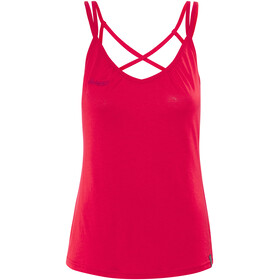 Bergans Cecilie Wool Singlet Women Strawberry/Bougainvillea